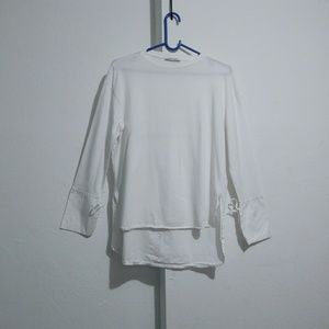 Zara Long sleeves shirt two types material hi low